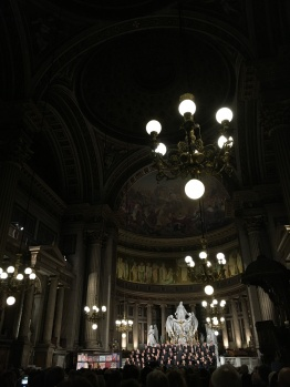 "Inside Madeleine, during the final movement of Beethoven's symphony, ""Ode to Joy"""